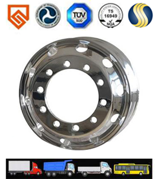 The Aluminum Alloy Wheels With High Performance, High Gloss ,Durable For Heavy Duty Truck,Lighter Tr